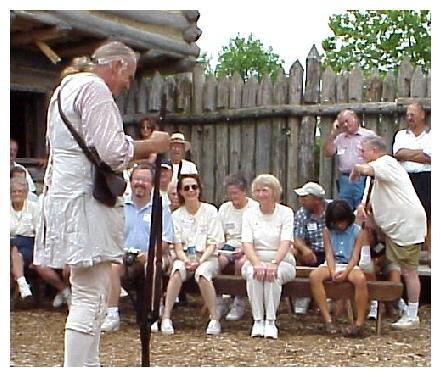Preparing to Fire the Flintlock Musket