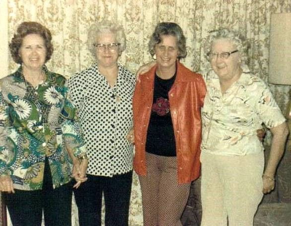 Melva, Goldie, Betty JO, Edith March 18-1976
