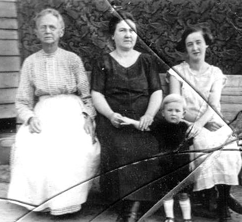 Four Generations: Nancy, Hattie Edith & Eddie