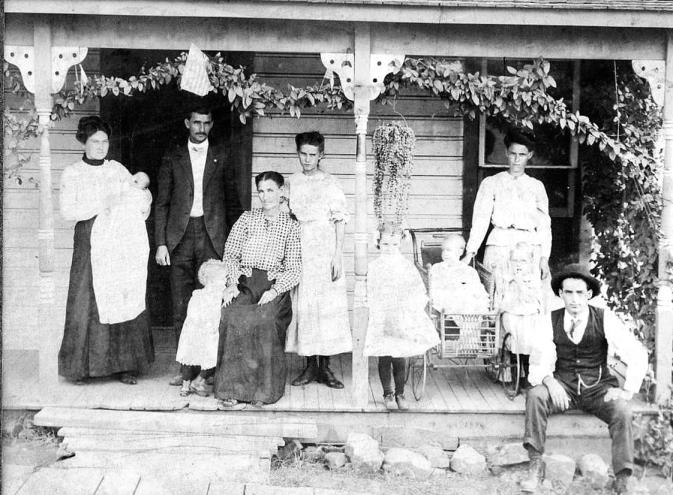 Ed Mansker Family on the Porch
