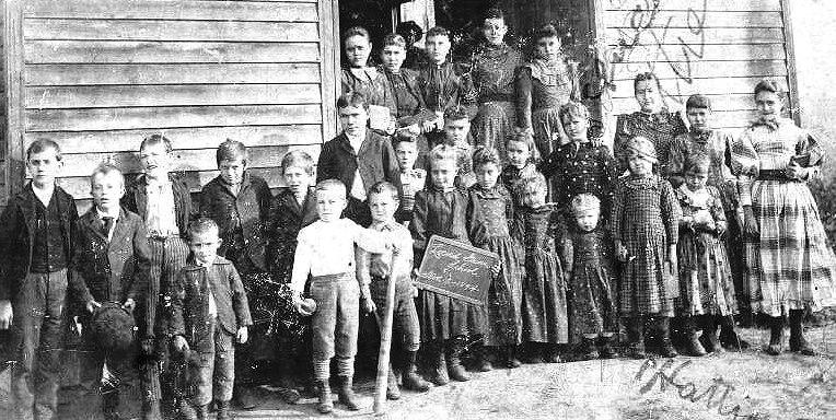The Old School at Belgique, Missouri 1894 (Detail)