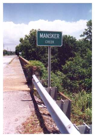 Mansker Creek Road Sign