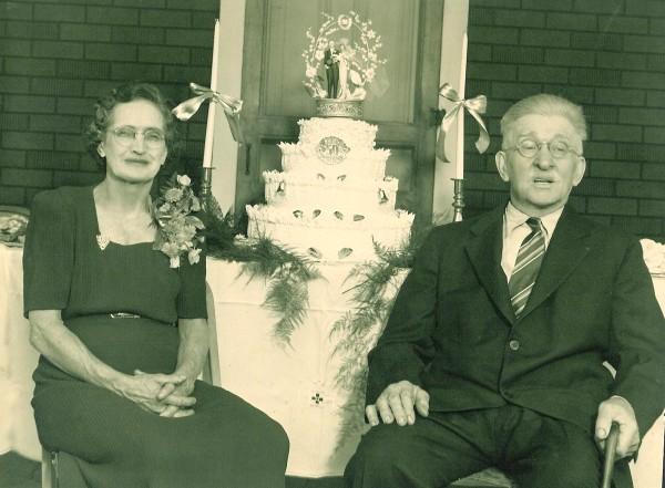 William Minsker & Anna Sours 50th Wedding Anniversary 1944