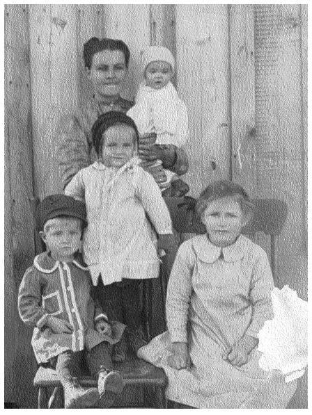 Precious Lofton Johnson and Children