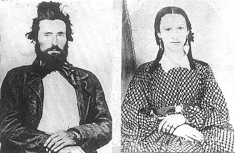 William Wallace Mansker (1837-1869) and Martha Crain Mansker (1842-1866)